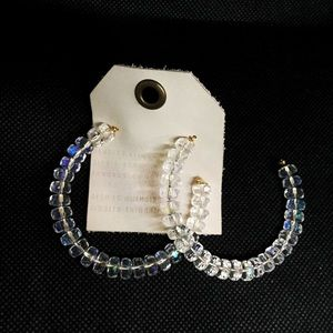 NWT Anthropologie crystal hoop earrings